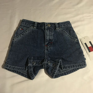 Tommy Hilfiger denim shorts 3-6 mos. NWT